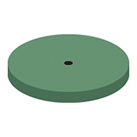9591008 NTI Silicone Green High Shine Polishers Wheel, P0101, 220, Unmounted, Green, 10/Pkg.