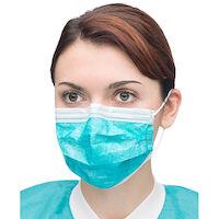 2212008 Extra-Safe Sensitive Earloop Masks Teal, 50/Box, 5430E-TE