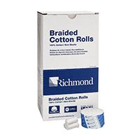 """8840408 Braided Cotton Rolls Non-Sterile, 1½"""", Medium Dia. Junior Pack, 2000/Pkg, 200204"""