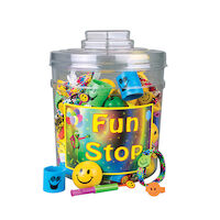 3310028 Fun Stop Canister Mix Smile Themed Toys, 246/Canister