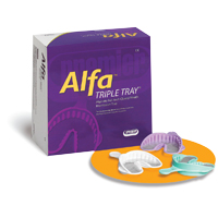 8785028 Alfa Triple Trays Assorted, 24/Pkg., 1006343
