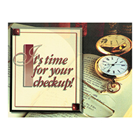 3315128 It's Time For Your Checkup Postcard Stop Watch Postcards, 250/Pkg., RC5532
