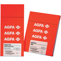 "8490728 AGFA Dentus Ortholux Green, 5"" x 12"", 100/Box, 66000311"