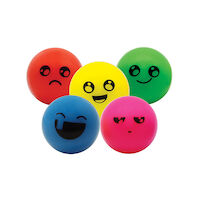 3310038 Super Balls 32 mm, Funny Face, Assorted Colors, 100/Pkg.