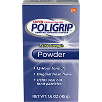 0074038 Super Poligrip Powder, 1.6 oz., 07801
