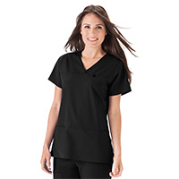 4950138 Four-Pocket Top Style 2299 Black, Small, Ladies Top, 2299-015-S