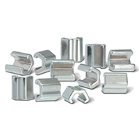 0705238 Crimpable Mini Stops Split Stops, Stainless Steel, 10/Pkg.