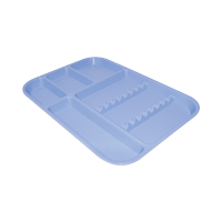 9550848 Procedure Set-Up Trays - Divided B Baby Blue, 32160