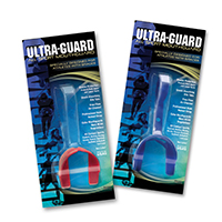 0905058 Ultra-Guard Mouthguards Black, with Strap, 12/Box, 24005