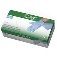 5039258 CURAD Nitrile Exam Gloves X-Small,150/Box,Blue,CUR9313