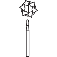 8647358 Oral Surgical Carbide Burs HP Taper Round End CrossCut, 2.1, 1703, 10/Pkg., 389785