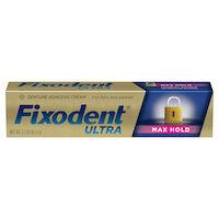 8180558 Fixodent Denture Adhesives Fixodent ULTRA Max Hold Denture Adhesive, 2.2 oz Tube, 80309151
