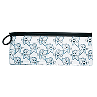 "3314168 Vinyl Pouches Happy Smile Pouch, 10""W x 4""H, 144/Pkg."