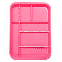 9521568 B-Lok Divided Setup Trays Neon Pink, 20Z451S