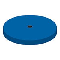9591078 NTI Silicone Blue Medium Grit Polishers Wheel, P0401, 220, Unmounted, Blue, 10/Pkg.