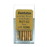 9519678 Surtex Gold Plated Post Refills Short, S-3, 7.8 mm, 12/Pkg., RST-S3