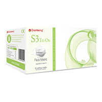 9539088 S3 Tie On Face Mask White, 50/Box, S3050W