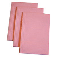 "9532288 Distech Dental Bibs Dusty Rose, 13"" x 18"", 500/Box, 7286"