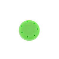 2211788 Round Magnetic Bur Blocks Green, 7-Hole, 400BS-S4