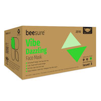 9530198 BeeSure Vibe Face Mask Dazzling Green, 50/Box, BE2510