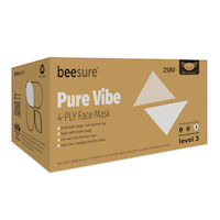 5250998 BeeSure Pure Vibe Face Masks BeeSure Pure Vibe Face Masks ,50/Box,BE2580