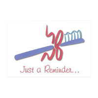 3315009 Just a Reminder White Reminder Postcard, 250/Pkg., RC9554