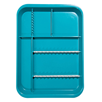 9514509 B-Lok Divided Setup Trays Teal, 20Z451J