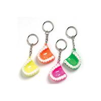 3310609 Neon Tooth Keychains Keychains, Assorted, 24/Pkg., S3307