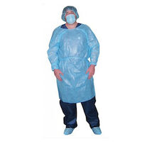 6600909 Fluid Resistant Isolation Gowns 50/Box, Blue, 303BL