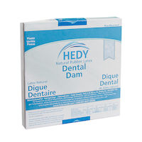 "8970019 Latex Dental Dam 6"" x 6"", Heavy, Blue, 36/Box, 310DB-6H"