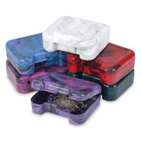 5250519 Marble Retainer Cases Cosmic Marble Retainer Cases,24/Bag,7145311