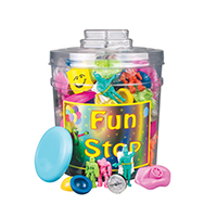 3310029 Fun Stop Canister Mix Action Toys Assorted, 132/Canister