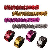 3310149 Slap Bracelets Sequin Slap Bracelet, 12/Pkg., WP1456