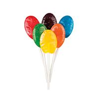3310659 Sugar Free Lollipops Oval, Fruity, 100/Pkg.