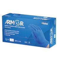 5251759 Armor Nitrile Powder-Free Exam Gloves Large,100/Box,Blue,GL-100L