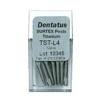 9520079 Surtex Titanium Post Refills L4, Long, 11.8 mm, 12/Pkg., TST-L4