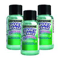 2591379 Listerine Smart Rinse Mint Shield, 27 ml, 72/Box, 11322