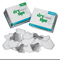 9530489 Reflective DryTips Large, Silver, 50/Box, 291726