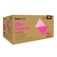 9530199 BeeSure Vibe Face Mask Glamorous Pink, 50/Box, BE2530