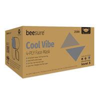 5250999 BeeSure Pure Vibe Face Masks BeeSure Cool Vibe Face Masks ,50/Box,BE2590